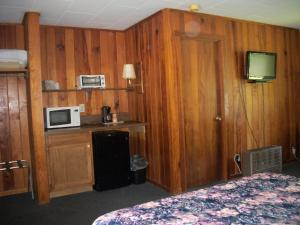 A television and/or entertainment center at Two Rivers Lodge