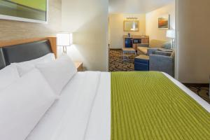 A bed or beds in a room at Holiday Inn Express Hotel and Suites - Henderson, an IHG hotel