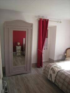 Un ou plusieurs lits dans un hébergement de l'établissement Hotel gites des touristes