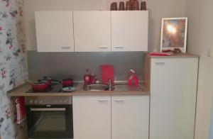 Küche/Küchenzeile in der Unterkunft Lutherdom Apartment