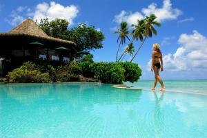 The swimming pool at or close to Pacific Resort Aitutaki