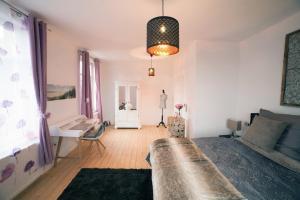 Ein Sitzbereich in der Unterkunft DesignLodge Apartments