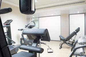 Gimnasio o instalaciones de fitness de Aparthotel Acualandia