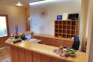 Kuchyňa alebo kuchynka v ubytovaní Penzion Tofi