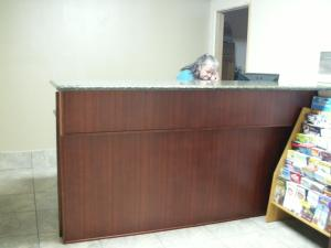 The lobby or reception area at Executive Motel