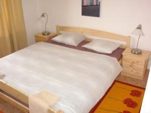 Postel nebo postele na pokoji v ubytování Hotel Vyzlovka