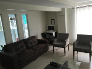 A seating area at Hotel Villa Brites