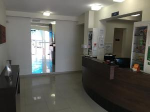 The lobby or reception area at Hotel Villa Brites