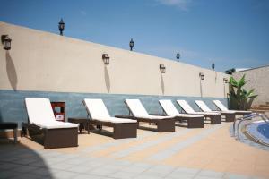 The swimming pool at or near Crown Hotel Juba