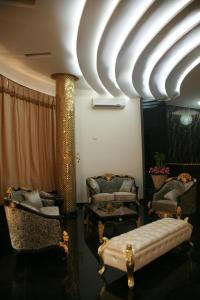 A seating area at Crown Hotel Juba