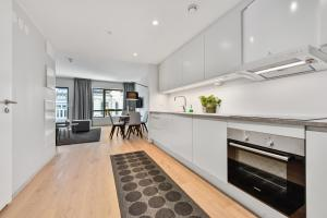 A kitchen or kitchenette at Forenom Serviced Apartments Oslo Majorstuen