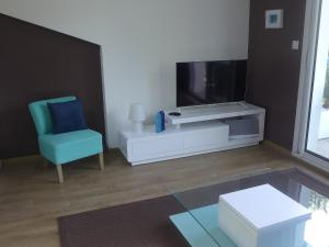A television and/or entertainment center at Apartment Les Berges Landaises-1