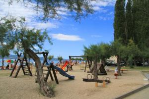 Children's play area at Mobile Homes Camp Galeb