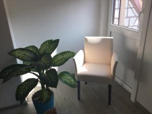 A seating area at Kulisse Apartments