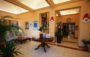The lobby or reception area at Hotel Bella Riviera