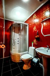 A bathroom at Briz Hotel