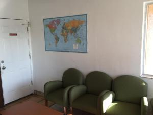 A seating area at Amazon Motel