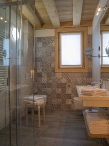 Koupelna v ubytování Hotel Amerikan