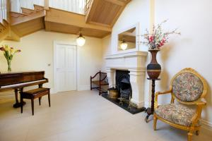 A seating area at St Columbs House