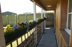 A balcony or terrace at Hillhead Farm Lets