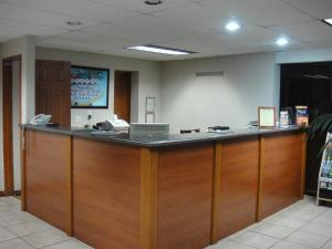 The lobby or reception area at City Center Motel