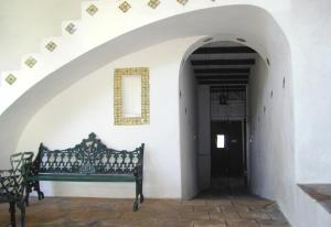 A seating area at Posada La Mariquinta