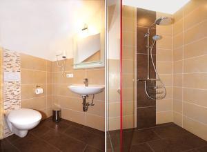 A bathroom at Gästezimmer Hans-Norbert Mack