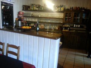 The lounge or bar area at Albergue San Pelayo