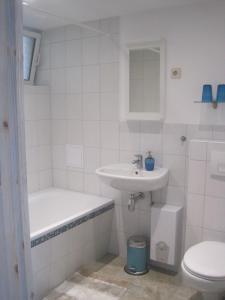 Ein Badezimmer in der Unterkunft Ferienwohnung Alte Brennerei