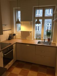 A kitchen or kitchenette at Engelsted Guesthouse