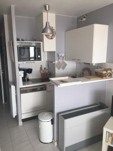 A kitchen or kitchenette at Studio Residence Les Algues - Place Foch