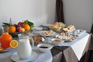 Možnosti zajtrka za goste nastanitve Agriturismo Sa Scalitta