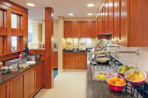 A kitchen or kitchenette at Residence Inn Boston Norwood