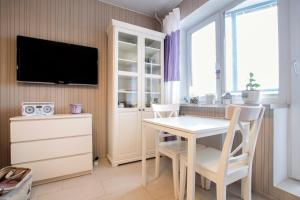 A television and/or entertainment center at Nordic Apartment