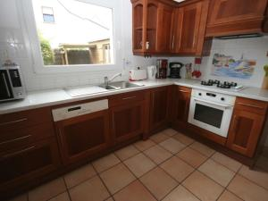 A kitchen or kitchenette at Authentic Villa in Erdeven France With Jacuzzi