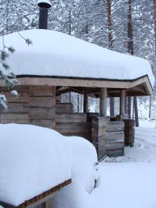 Sallainen Panvillage om vinteren