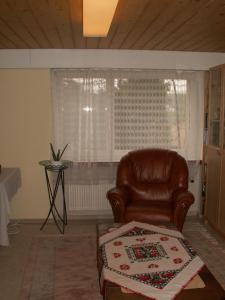 Ein Sitzbereich in der Unterkunft Villa Lavendel