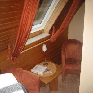 Ein Sitzbereich in der Unterkunft Pension Klaashof