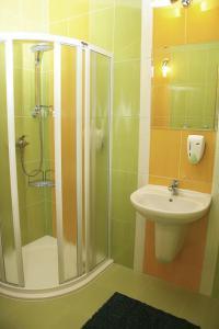 Ванная комната в Penzion-Hotel Starojícká Pizza