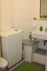 Ein Badezimmer in der Unterkunft Ferienwohnung Im Weihergrund
