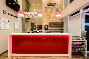 The lobby or reception area at Play Hotel