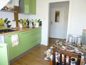 Küche/Küchenzeile in der Unterkunft Ferienwohnung Am Landesmuseum