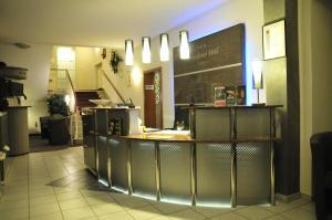 Küche/Küchenzeile in der Unterkunft Dresdner Hof