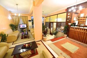 The lobby or reception area at Hotel Dalia