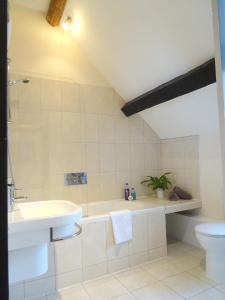 A bathroom at Garway Moon Inn
