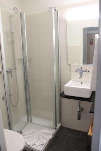 Ein Badezimmer in der Unterkunft Martinshof