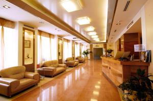 The lobby or reception area at Primorye Hotel
