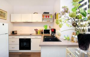 A kitchen or kitchenette at Apartement au 62