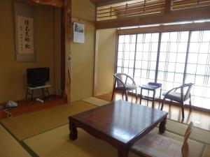 A television and/or entertainment center at Ishibu-so