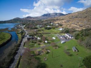 A bird's-eye view of Hungry Hill Lodge